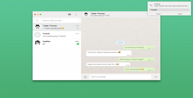 FreeChat: Usa WhatsApp en tu Mac
