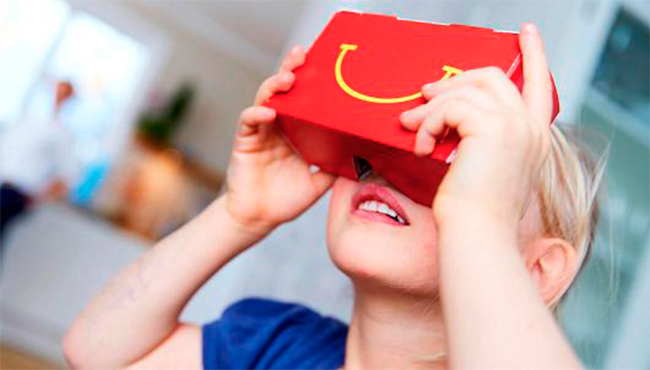 McDonald's presenta sus nuevas gafas de realidad virtual