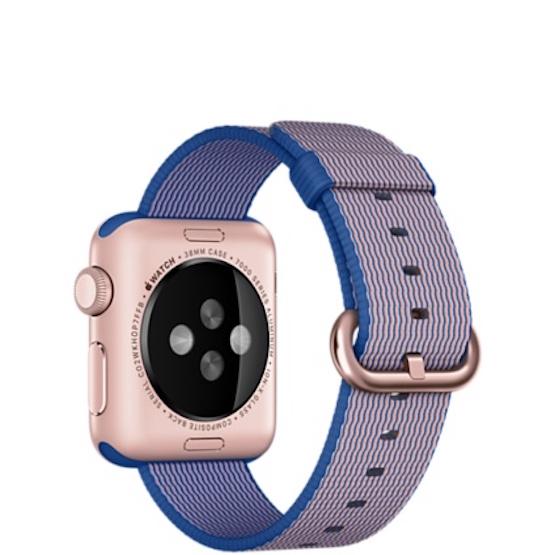 apple-watch-correa de nailon trenzado azul real