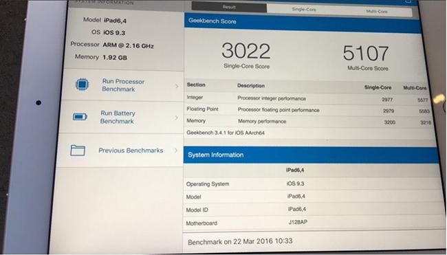iPad Pro 9,7%22-2 GB - 3