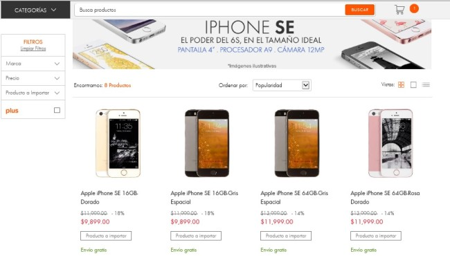 iPhone SE en Mexico
