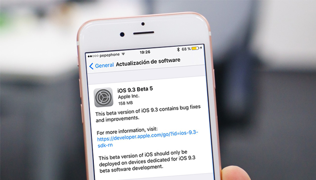 Apple lanza la beta 5 de iOS 9.3, watchOS 2.2, tvOS 9.2 y OS X 10.11.4