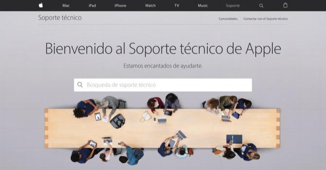 El soporte técnico de Apple lanza una nueva página web