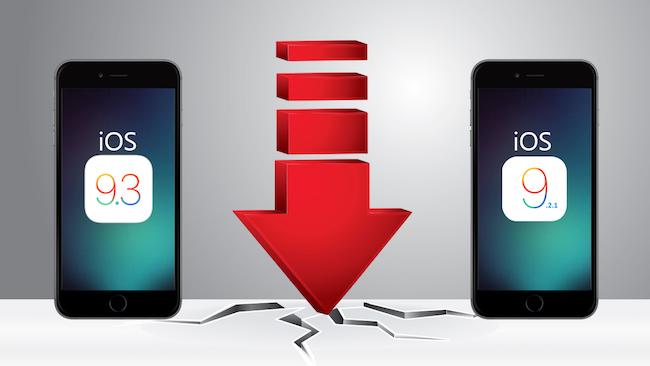 El downgrade a iOS 9.2.1 ya no es posible
