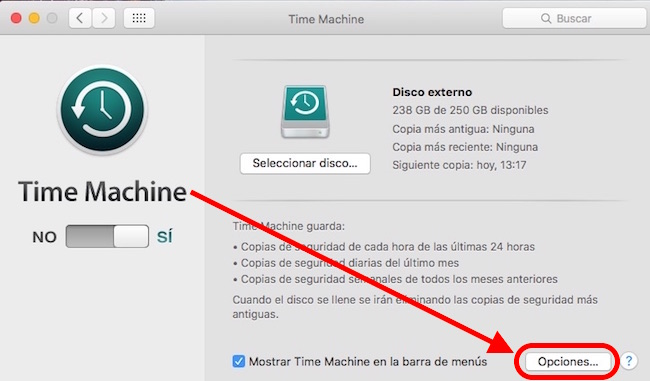 time-machine-opciones