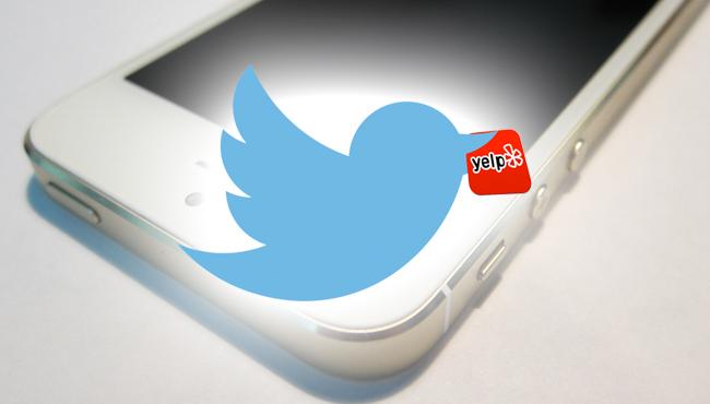Ahora Twitter elige a Yelp también fuera de EE. UU.