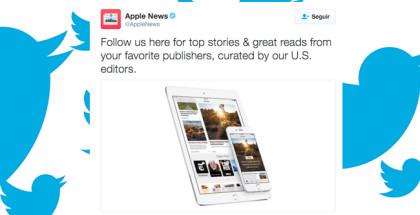 Apple News se lanza a Twitter para llegar a más usuarios