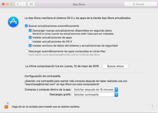 Actualizar aplicaciones en Mac