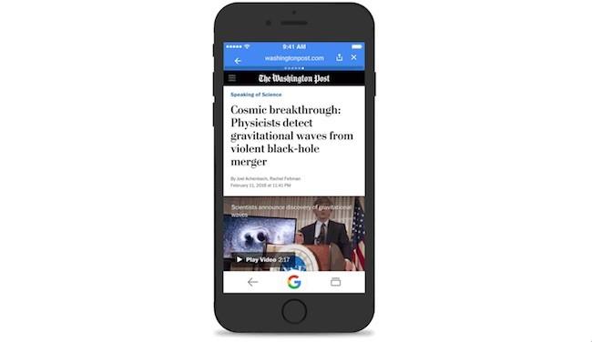 Artículos y noticias completas directamente agregadas al buscador en Google App
