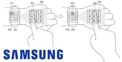 Samsung smartwatch patente proyector