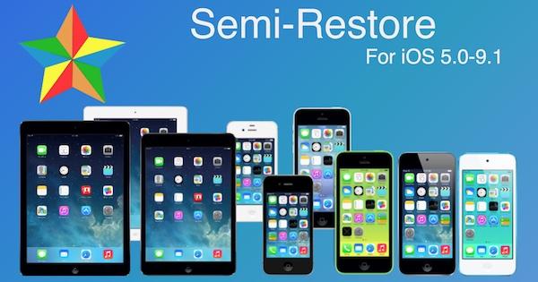SemiRestore: restaura tu dispositivo sin perder el Jailbreak iOS 9.0.2/9.1