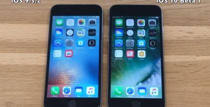 iOS 10 vs iOS 9.3.2