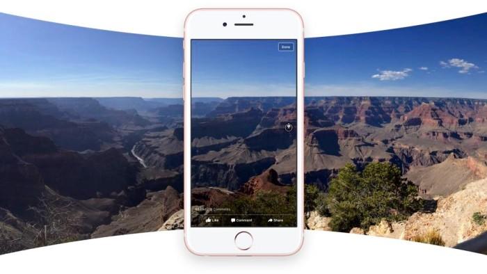 Facebook apuesta por las fotos en 360 grados en su actualización