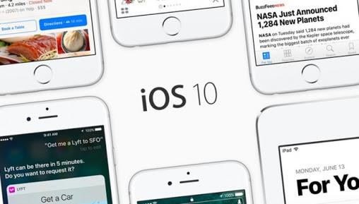 iOS 10 ocupa menos espacio que sus predecesores