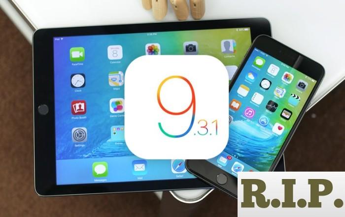 Apple ha dejado de firmar iOS 9.3.1