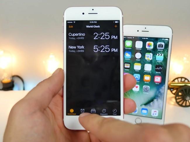 reloj iOS 10