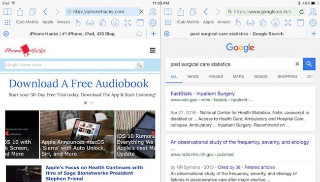 Split View, cómo utilizarlo con Safari en iPad