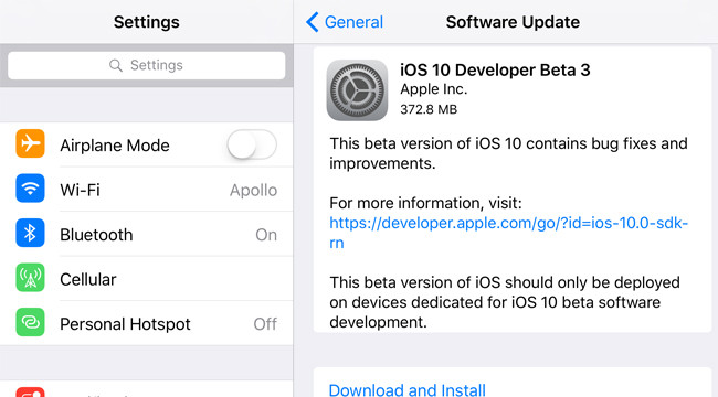 iOS-10-beta-3