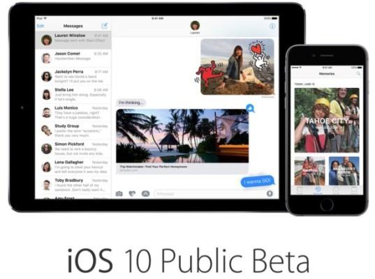 iOS 10 beta pública: disponible para descargar