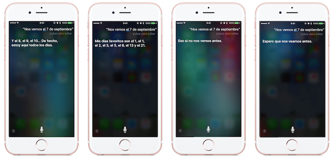 Siri iPhone 7 Keynote
