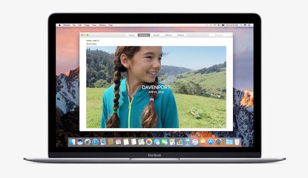 Interfaz en macOS Sierra