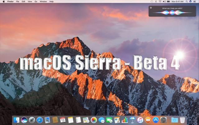 Llega la beta 4 de macOS Sierra para desarrolladores