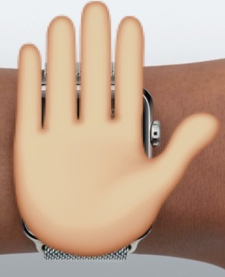 mano en el apple watch
