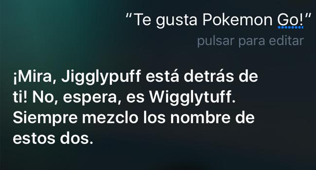 Siri ofrece divertidas respuestas sobre Pokémon GO