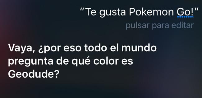 """Te gusta Pokémon GO? """"Vaya, ¿por eso todo el mundo pregunta de qué color es Geodude?"""""""