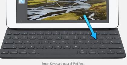 smart keyboard ipad pro castellano ñ