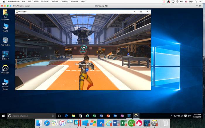 Corriendo un juego en Parallels Desktop gracias a la compatibilidad con Windows