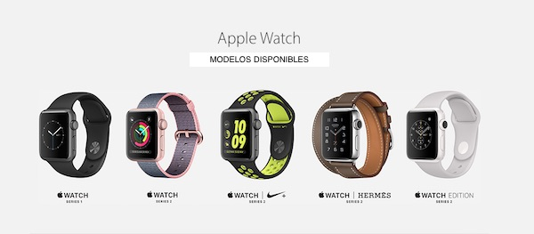 Apple Watch - estos son los modelos disponibles