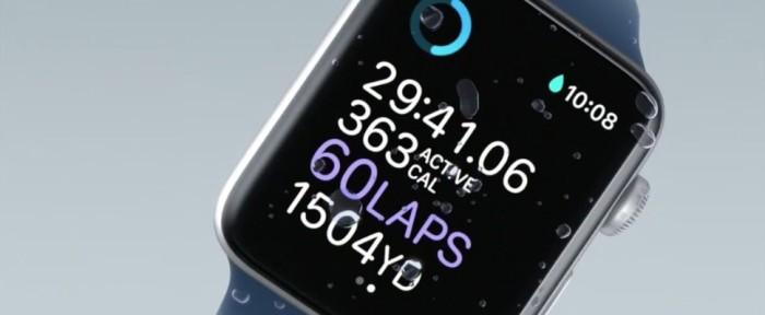 Apple watch 2 acuático
