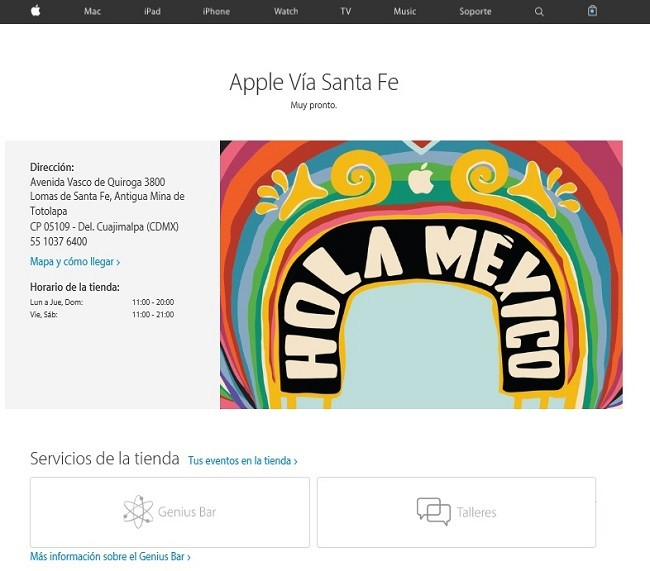 apple vía santa fe