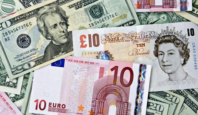 Dolar Euro Libra
