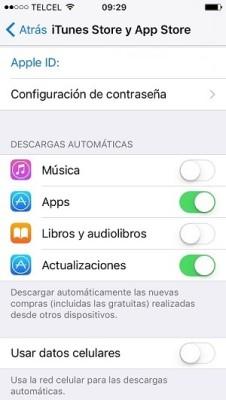 iOS 10 Descargas automaticas2
