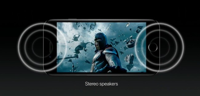 iPhone 7 - dos altavoces estéreo
