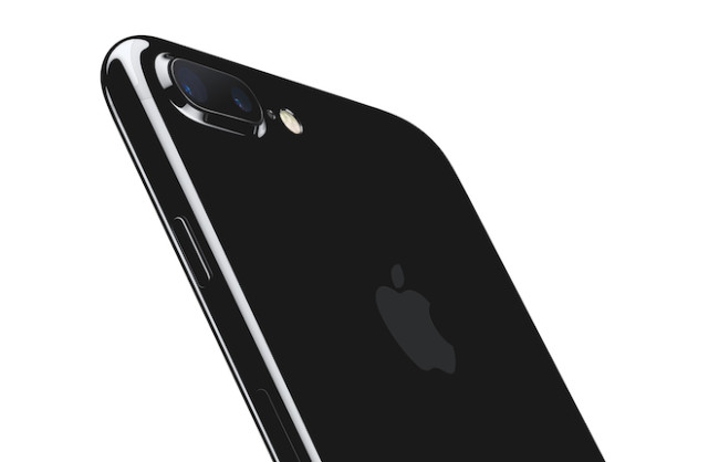 iPhone 7 JetBlack Fondo blanco