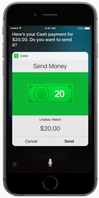 ios 10 siri cash payment