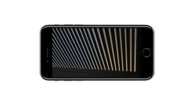 Este es el wallpaper de GrafiXpressions para el iPhone 7 oscuro