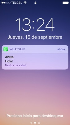 whatsapp notificacion