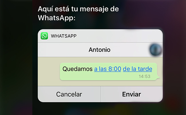 WhatsApp para iOS 10 incluye integración total con Siri.