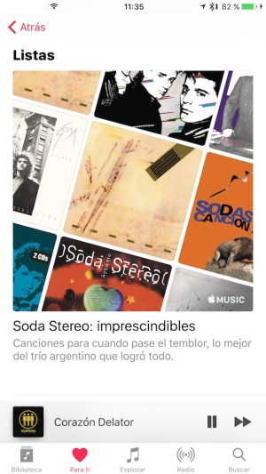 Apple Music - Listas de canciones