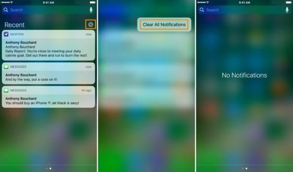 Eliminar notificaciones iOS 10