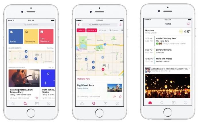 Facebook lanza nueva aplicación Eventos para iOS