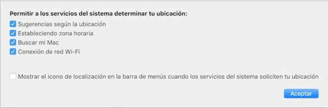 Preferencias del Sistema macOS Sierra Localización 3