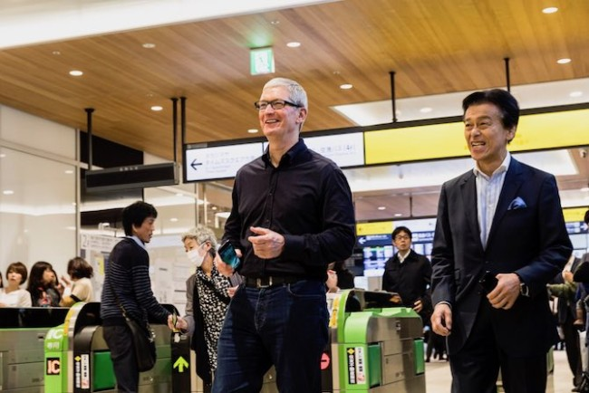 Tim Cook Apple Pay Japon FeliCa