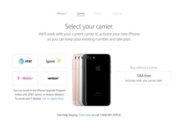 """El iPhone 7 """"libre"""" ya se vende en el sitio de Apple USA"""