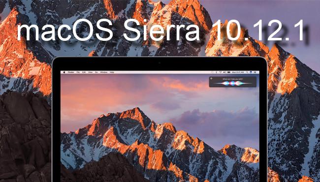 macOS Sierra 10.12.1, Apple actualiza el sistema operativo de los Mac