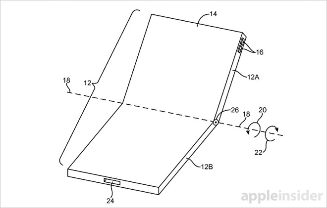 Patente iPhone flexible. Imagen de AppleInsider
